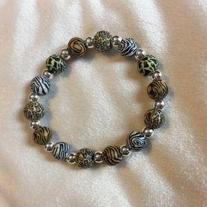 Jewelry - Animal print stretch bracelet